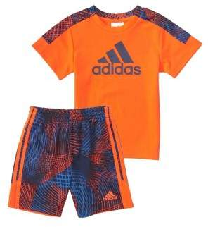 adidas Baby Boy's Two Piece Logo Tee and Contrast Shorts