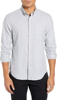 Club Monaco Polka Dot Cotton Flannel Sport Shirt