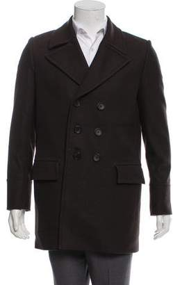 Balenciaga Virgin Wool Double-Breasted Peacoat