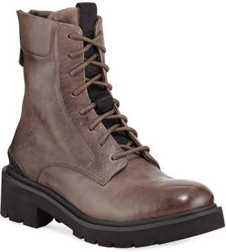 Frye Allison Leather Combat Boots