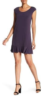Velvet by Graham & Spencer Ruffle Hem Shift Dress