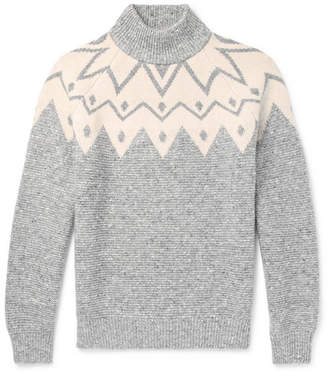 Brunello Cucinelli Fair Isle Wool-Blend Sweater - Men - Gray