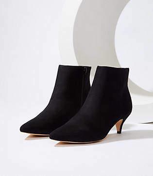 LOFT Kitten Heel Ankle Boots