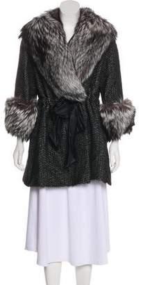 Norman Ambrose Fur-Trimmed Short Coat