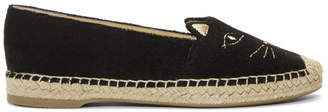 Charlotte Olympia Black Terrycloth Cool Cats Espadrilles