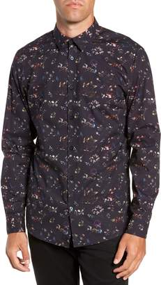 Selected Primus Slim Fit Floral Print Sport Shirt