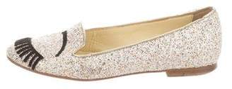 Chiara Ferragni Glitter Applique Loafers