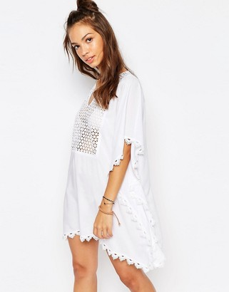 Seafolly Lace Insert Caftan $181 thestylecure.com
