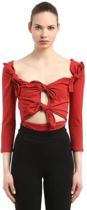 Isa Arfen Off The Shoulder Cotton Jersey Bodysuit