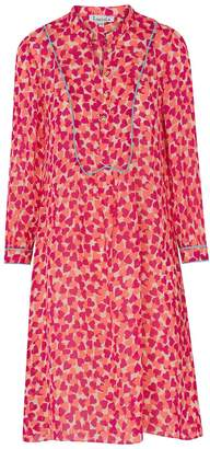 Libelula Goodie Tunic Pink and Orange Hearty Print