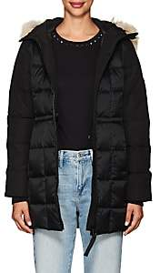 Canada Goose Women's Beechwood Fur-Trimmed Down-Quilted Parka-Black