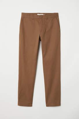 H&M Cotton Chinos Slim fit - Beige
