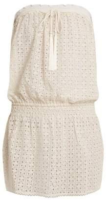 Melissa Odabash Adela Strapless Broderie Anglaise Dress - Womens - Cream