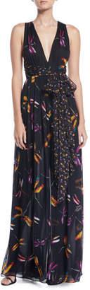 Diane von Furstenberg Justine Floral-Print Sleeveless Maxi Dress