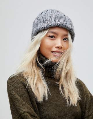 French Connection Chunky Knit Beanie Hat