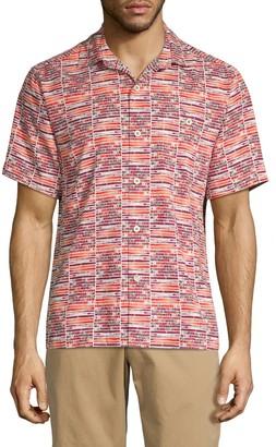 Tommy Bahama Mixed-Print Button-Down Shirt