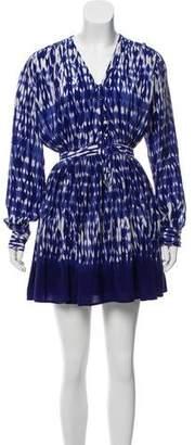 Thakoon Silk Long Sleeve Mini Dress