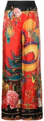 Dolce & Gabbana japan print palazzo trousers