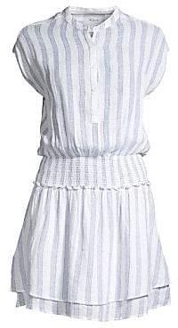 Rails Women's Angelina Striped Linen-Blend A-Line Dress