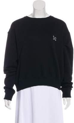 Calvin Klein Jeans Rib Knit-Paneled Crew Neck Sweatshirt w/ Tags