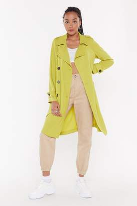 Nasty Gal Womens Belted Trench - White - S
