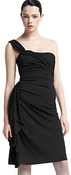 Blumarine One-Shoulder Jersey Dress