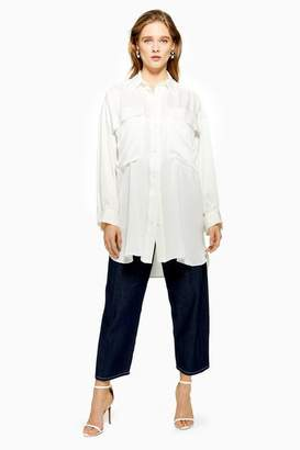 Topshop **Silk Oversized Shirt Dress by Boutique
