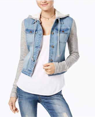 American Rag Juniors' Terry Denim Jacket, Created for Macy's
