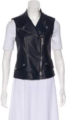Belstaff Leather Biker Vest