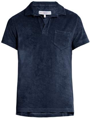 ORLEBAR BROWN Terry-towelling cotton polo shirt $120 thestylecure.com