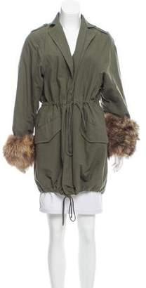 Elizabeth and James Fur-Trimmed Short Coat