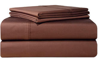 Pointehaven Solid 4-Pc. King Extra Deep Sheet Set, 500 Thread Count Cotton Sateen Bedding