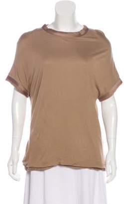 Lanvin Short Sleeve Silk Top