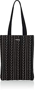 Saint Laurent Men's Canvas Tote Bag-Black