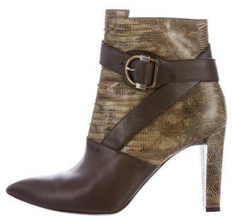 Balenciaga Balenciaga Buckle-Accented Leather Ankle Boots