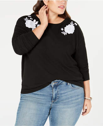 Style&Co. Style & Co Plus Size Embroidered Sweatshirt