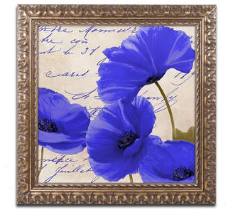 Trademark Global Color Bakery 'Coquelicots Bleues I' Ornate Framed Art
