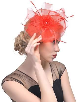 30th floor Customized Style Hat Bride Headdress Feather Hair Decoration Banquet Head Flower Hairpin Hair Accessories