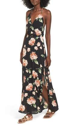 --- Surplice Maxi Dress