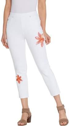 Belle By Kim Gravel Belle by Kim Gravel Flexibelle Embroidered Cropped Jeans