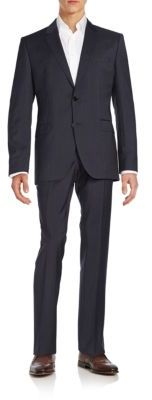 Hugo Boss Regular-Fit James Pinstriped Virgin Wool Suit