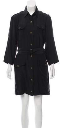 Rag & Bone Long Sleeve Silk Dress
