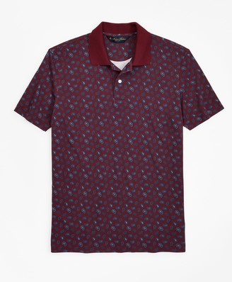 Brooks Brothers Slim Fit Printed Paisley Polo Shirt