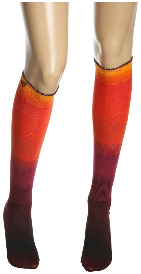 Roxy Leg Up Knee High Boot Socks (Red Clay) - Hosiery