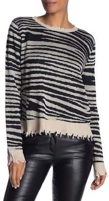 Fate Distressed Leopard Print Sweater