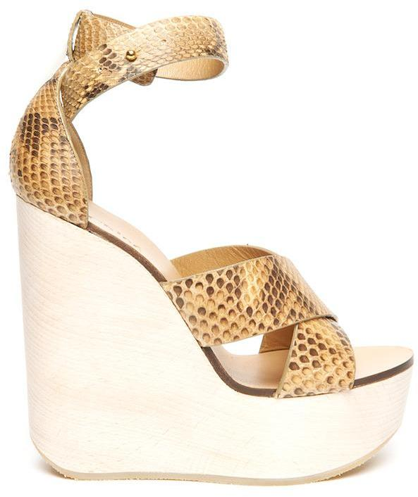 Chloe Snake Wedge Sandal