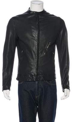 Dolce & Gabbana Lambskin Leather Jacket