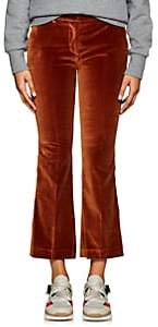 Pt01 Women's Jane Crop Flared Trousers - Brown