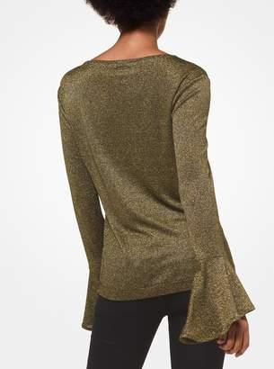 MICHAEL Michael Kors Metallic Bell-Sleeve Pullover