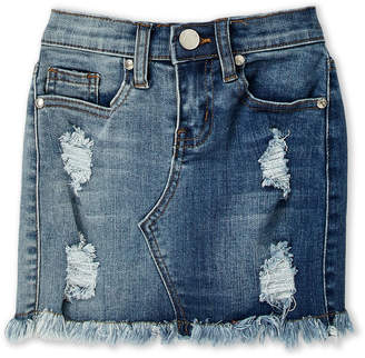 Pinc Premium Girls 7-16) Deconstructed Denim Mini Skirt